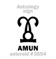 Astrology asteroid amun