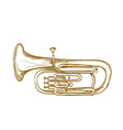 baritone horn vector image vector image
