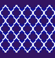 blue and white islamic pattern vector image vector image