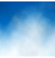 Blue sky cloud vector image vector image