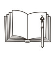 book and pen education symbol empty diary and vector image vector image