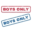 Boys Only Rubber Stamps vector image vector image