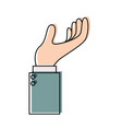 business hand side view gesture hold on in vector image vector image