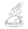 Cartoon image of cooked turkey