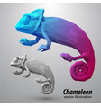 chameleon from color triangles vector image vector image
