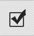 check mark in a box icon isolated tick symbol vector image