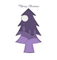 christmas landscape night paper cut vector image vector image