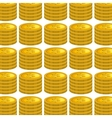 coins money pattern isolated icon vector image