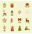 Collection of colorful christmas elements and vector image vector image