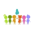 Colored children silhouettes vector image vector image