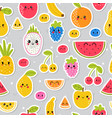 colorful hand drawn seamless pattern with summer vector image vector image