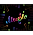 Colorful music logo on black vector image vector image