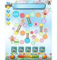 Computer game template with fairies flying vector image vector image
