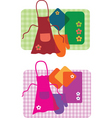 cooking aprons vector image vector image
