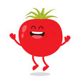 cute red ripe funny tomato vector image