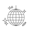 Disco ball line icon vector image