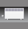 domestic electric heater with plug and electric vector image vector image