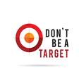 dont be a target color art vector image