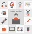 elearning icon set vector image vector image