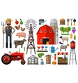 Farm in village logo design template vector image vector image