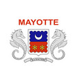 flag of mayotte france vector image