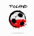 flag of poland as an abstract soccer ball vector image vector image