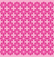 flower pink pattern ornament vector image vector image