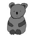 gray sad emotional koala cartoon vector image