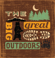great outdoors1 vector image vector image