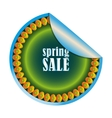 green sale sticker vector image
