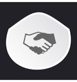 Handshake icon in sticker vector image vector image