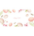 happy easter watercolor hand painted vector image vector image