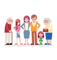 Happy Family Characters Love Together Child Teen vector image vector image
