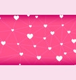 heart-shape network abstract in pink background vector image