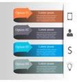 Infographics arrow template vector image vector image