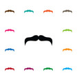 isolated mustache icon goatee element can vector image vector image