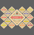 jam labels set vector image