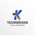 letter k logo elegant identity design alphabet vector image vector image