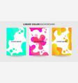liquid color background collection fluid gradient vector image