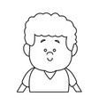 little boy portrait people cartoon kid vector image