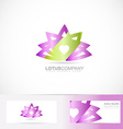 Lotus flower 3d logo vector image vector image