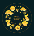mid autumn festival concept icons set vector image