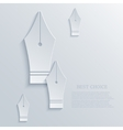 modern fountain pen light background vector image