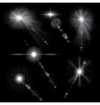 Monochrome lens flares vector image