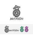 music record academy logo vector image vector image