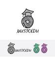 music record academy logo vector image