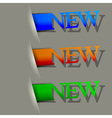 New Sign vector image