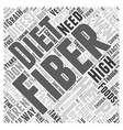 Nine Facts About Fiber Word Cloud Concept vector image vector image
