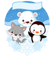 North Pole Animals vector image