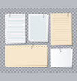 note papers sheets different notepaper with paper vector image